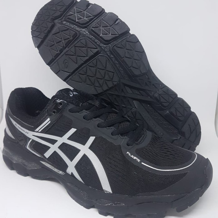 Sepatu olahraga running volly asics gel kayano 22 black silver murah - Hitam 5cafe45212