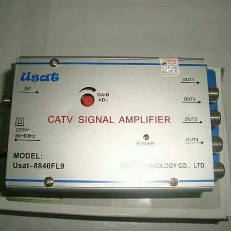 CATV Signal Amplifier / Penguat Sinyal TV 4 way / TV Booster