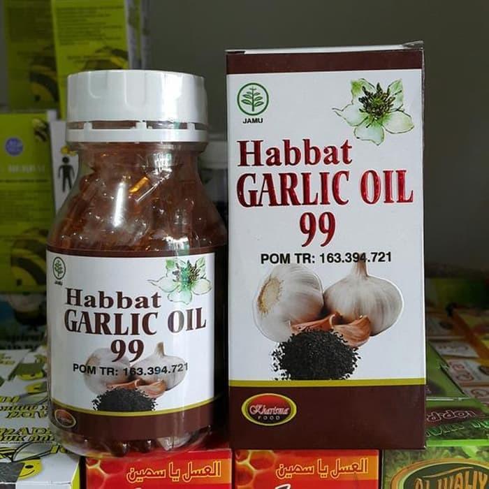 Jual Habbat Garlic Oil 99 Kharisma isi 100 kapsul - 08568181663