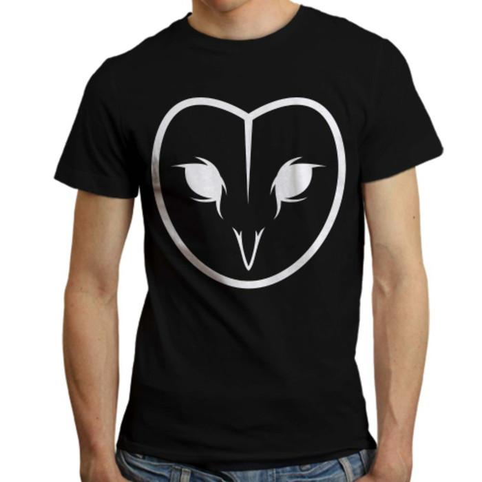 Jual Kaos T Shirt Pria Burung Hantu Logo Cokelat Muda Jakarta