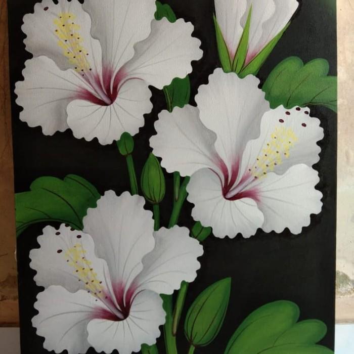 Jual Lukisan Bunga Kembang Sepatu Kab Jembrana Lukisan Bunga Bali Dr D Tokopedia