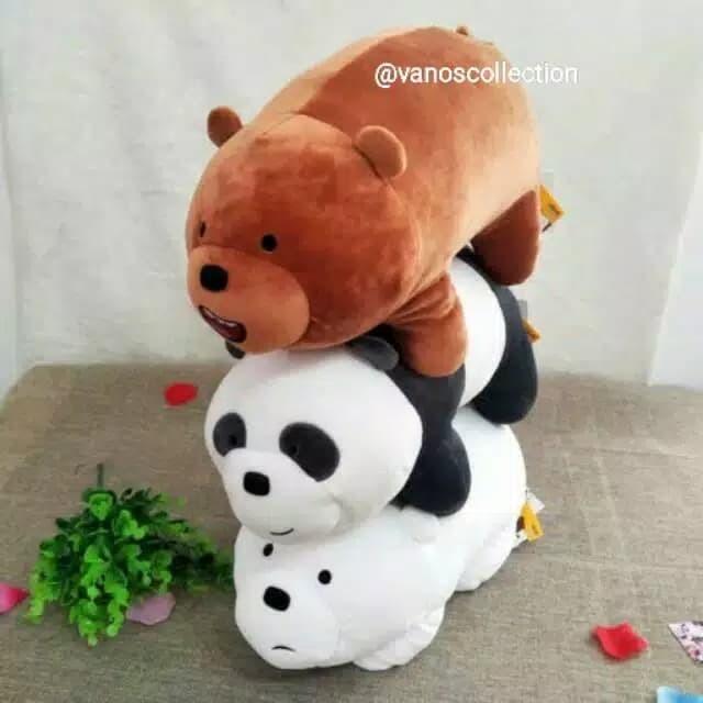 Miniso We Bare Bears Boneka Panda Bear Beruang Stand