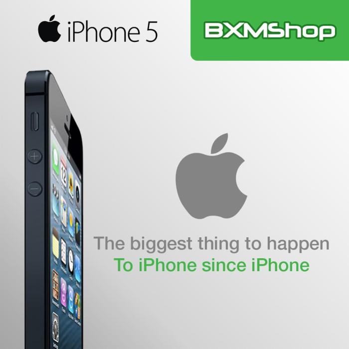 REFURBISHED APPLE IPHONE 5-32 GB WHITE/BLACK GARANSI DISTRIBUTOR 1 THN - Putih
