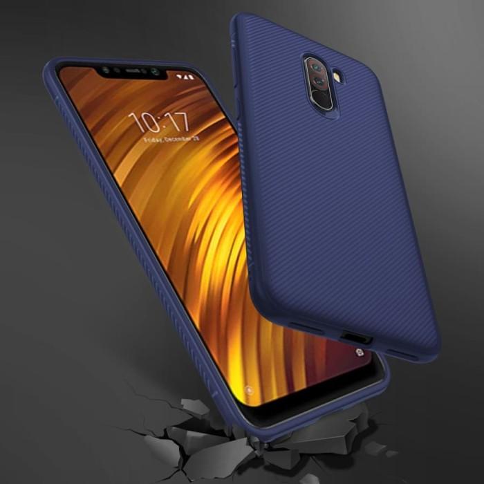 Foto Produk Case Silicone Fiber Shockproof Casing Xiaomi Pocophone F1 - Hitam dari Maserik Shop