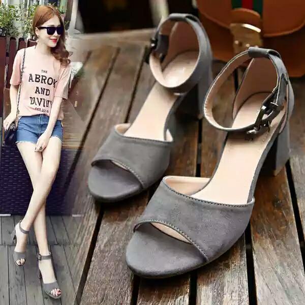 heels wanita hh004 abu