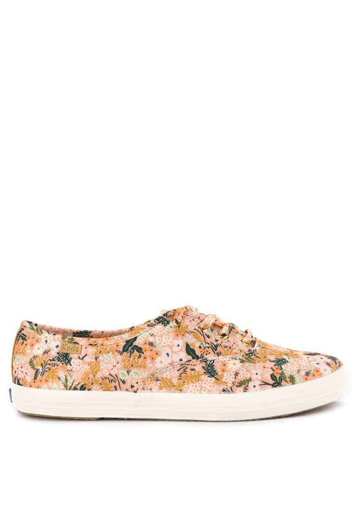 Sepatu Original Keds Champion Rifle Paper Co. Meadow - Pink Flowers