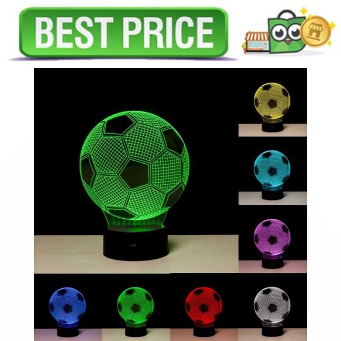 Lampu 3D LED Transparan 7 Color Football