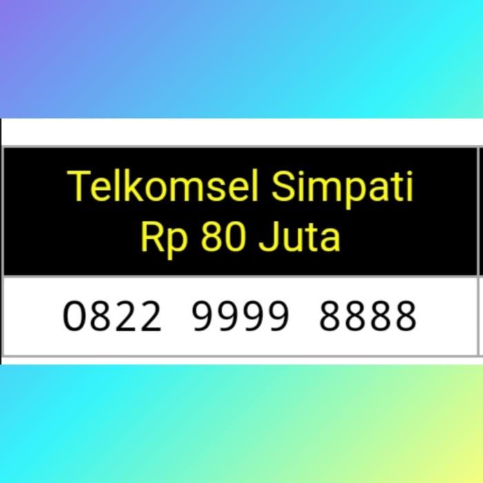 Nomor cantik simPATI double AAAA (O822 9999 8888)Super hoki#i