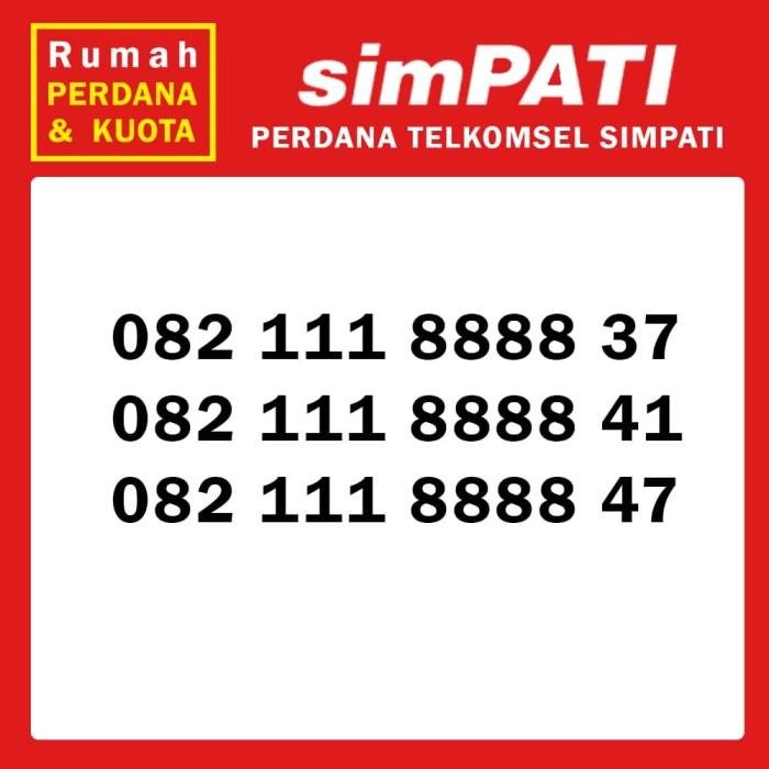 Perdana nomor cantik Telkomsel Simpati 4G 082 111 8888 xx 2 .