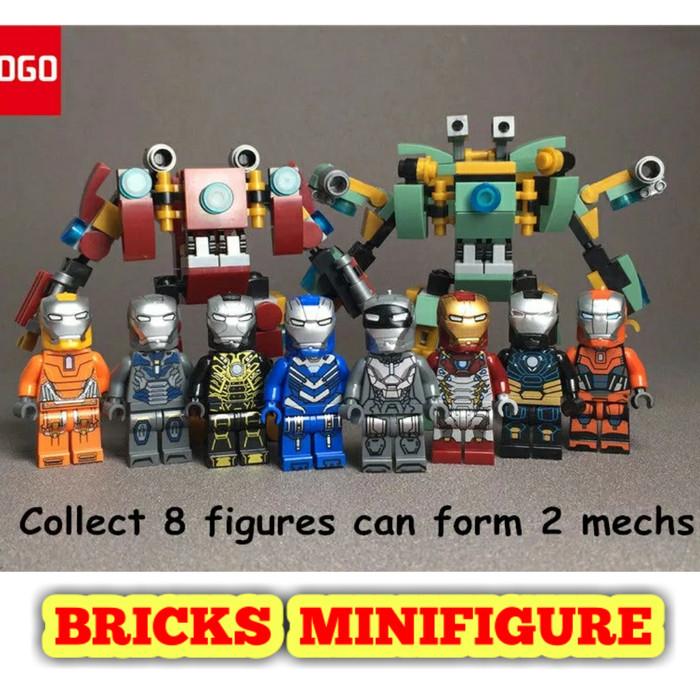 harga Lego iron man mk47 mk39 mk33 minifigure super heroes ironman Tokopedia.com