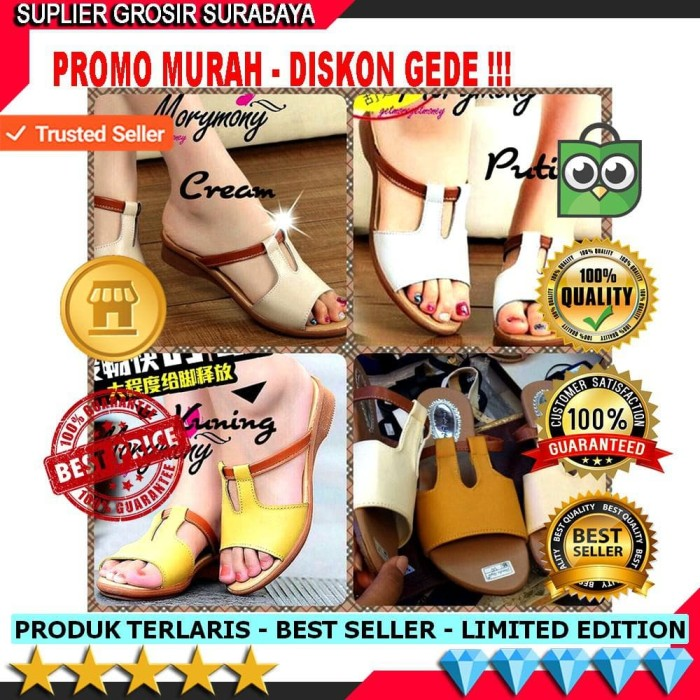 Sandal Flat Wanita Sepatu Sandal Wanita Flat Shoes Bahan Sintetis Kuat b516645bb6
