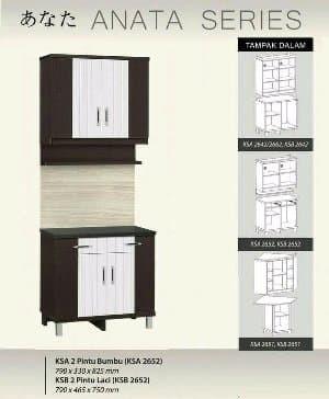 Harga Jual Kitchen Set Lemari Dapur 4 Pintu Atas Bawah Satu Set