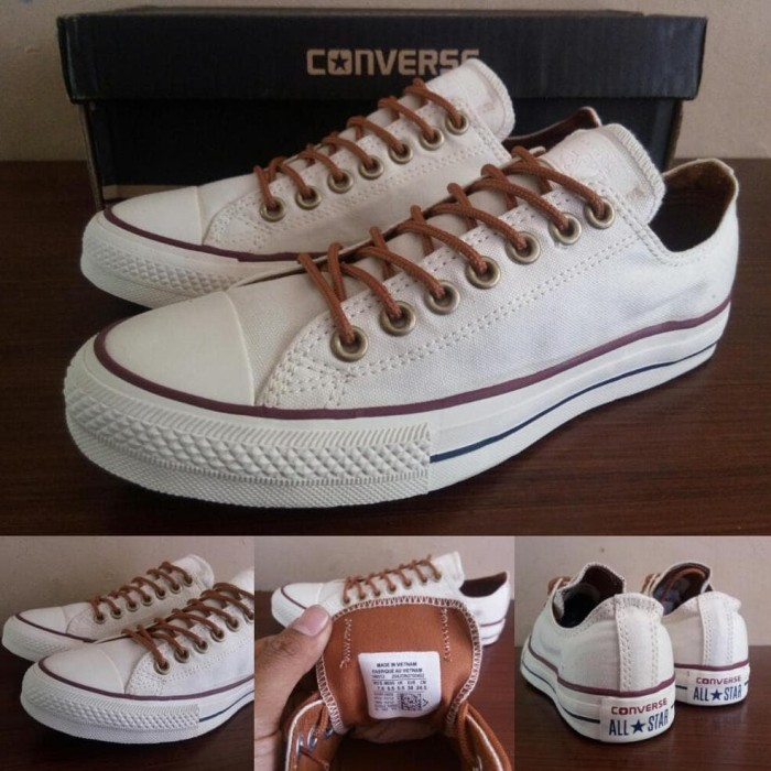 Jual Sepatu Converse All Star Low Classic Peached Ox White Grade ORI ... a74941e07b