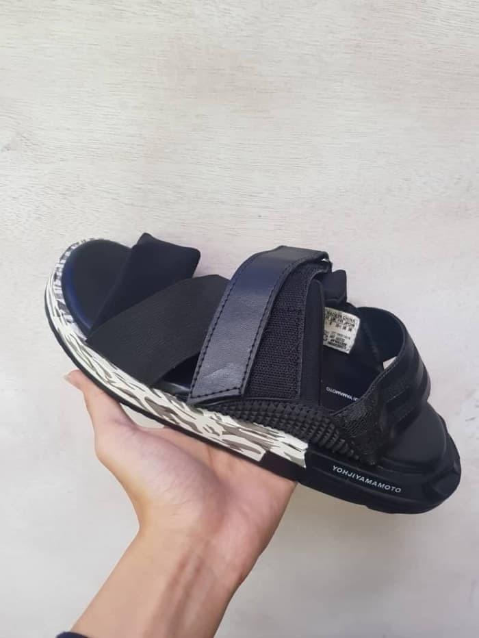 bcb11327eede2 Jual Sepatu Sandal Sandal Y3 KAOHE Yohji Yamamoto Black Grey Army ...