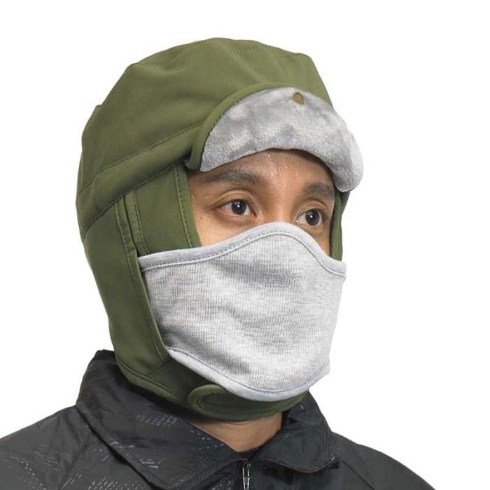 ZcoLand Kupluk Berlin Masker - Army Green (Warna : Army Green)