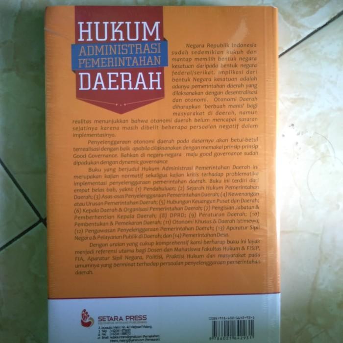 Jual buku hukum administrasi pemerintahan daerah - Sirajuddin anis Ibrahim  - Kab  Sleman - baby book | Tokopedia