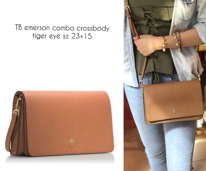 ad33923fdba Jual TAS TORY BURCH ORIGINAL - TB EMERSON COMBO CROSSBODY TIGER EYE ...
