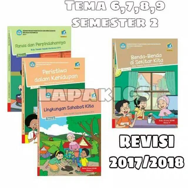 Jual Paket Buku Kelas 5 Tema 6,7,8,9 Semester 2 Revisi ...