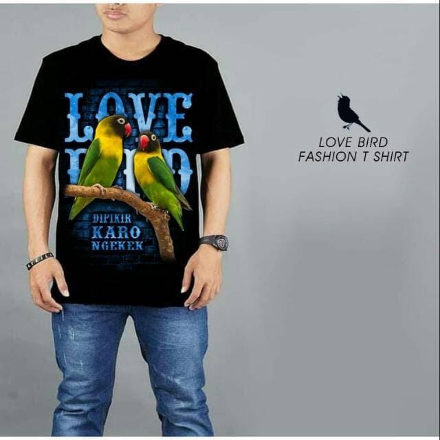 harga Kaos keren burung kicau mania lovebird 2 hitam Tokopedia.com