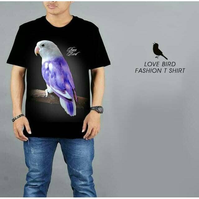 harga Kaos burung kicau love bird violet spandek rayon keren Tokopedia.com