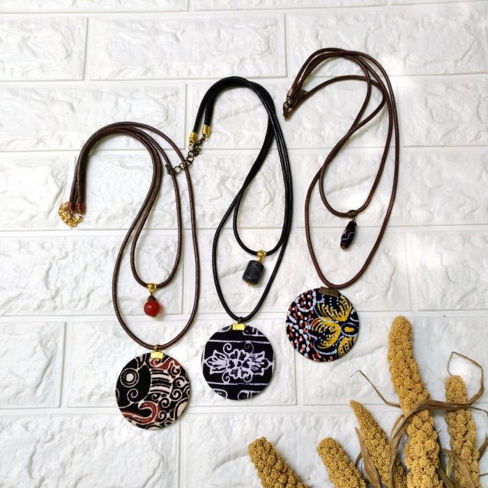 harga Kalung batik cap boho tali layer etnik handmade Tokopedia.com