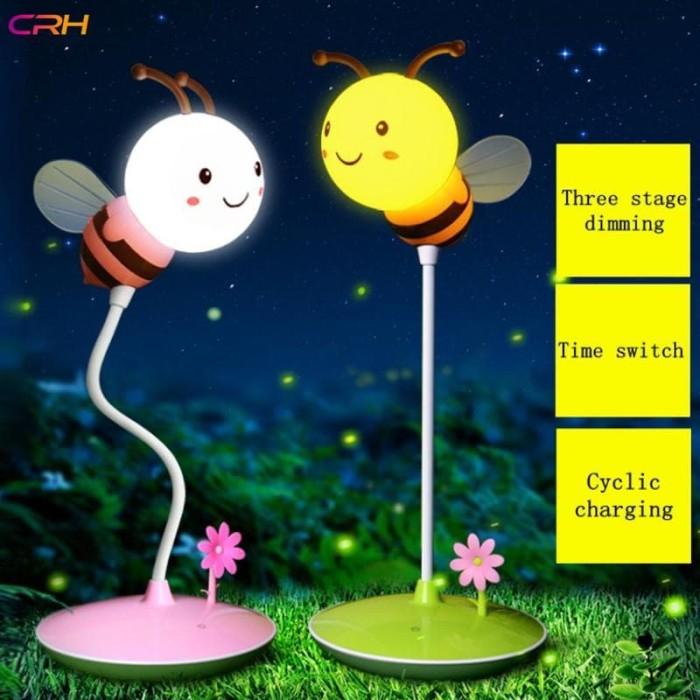 Jual Bayar Di Tempat Lampu Tidur Led Crh Bentuk Kartun Lebah Lucu
