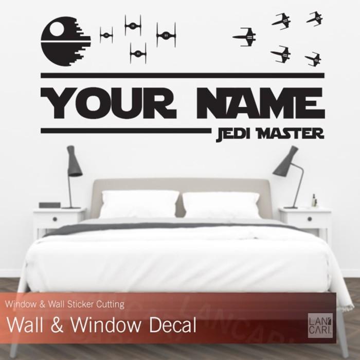 jual sticker cutting custom star wars decal stiker dinding kaca