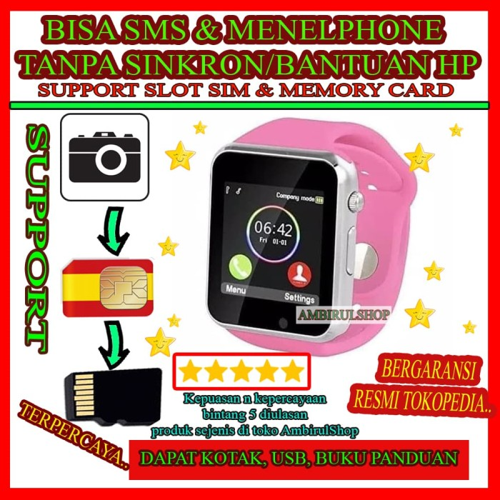 harga Kado hadiah smartwatch hp handphone jam tangan pria jam tangan unik Tokopedia.com