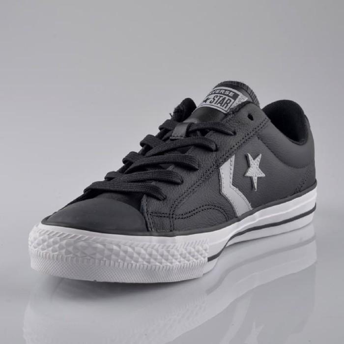 Jual Sepatu Converse STAR PLAYER OX Leather BLACK WOLF GREY ORIGINAL Kota Depok Ajran Shop | Tokopedia