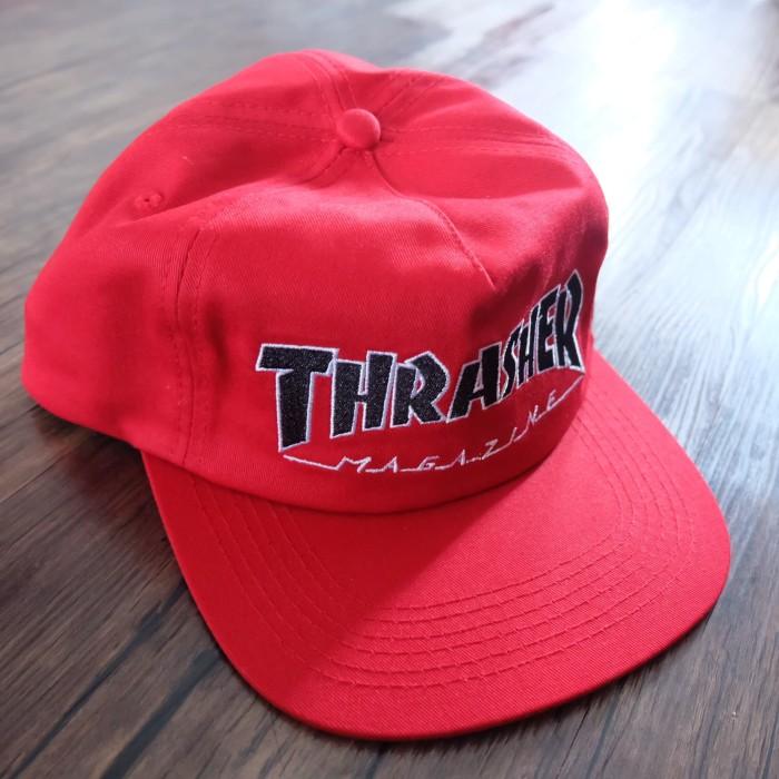Jual Thrasher Outlined Red Snapback Hat   Topi Thrasher Original ... 5e731cbd6129