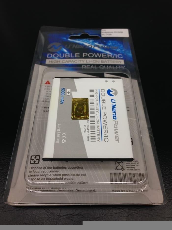 MURAH Baterai Polytron R1500 Rocket Q Five Pl 7q6 Nano Double Power