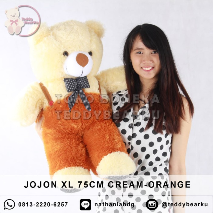 harga Boneka teddy bear 75 cm model jojon cream-orange Tokopedia.com