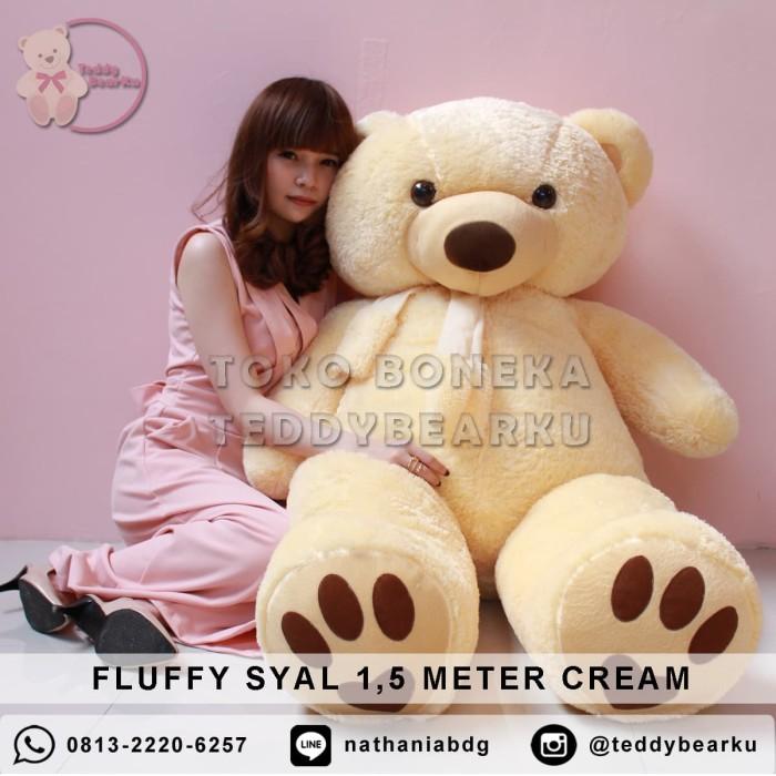 Jual Boneka Teddy Bear FLUFFY SYAL SUPER SUPER JUMBO 1 ee98963a86