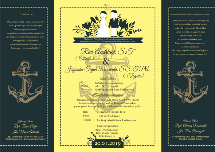 Jual Cetak Print Kartu Undangan Nikah Pernikahan Murah Plus Tanda Terimakas Kab Tasikmalaya Mymu Tokopedia