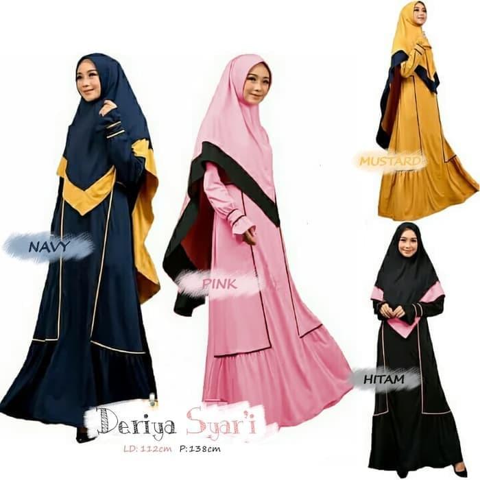 Jual Dres busana baju gamis syari Muslim Wanita Dewasa Terbaru DN034 ... 2bc68626b3