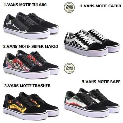 Sepatu vans authentic vans pria vans oldskool motif mario trasher bape 92c5445877