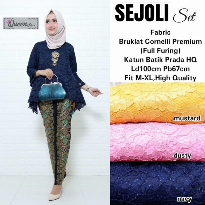Jual Setelan Baju Batik Wanita Kebaya Sejoli Set High Quality Terbaru Kuning Kota Surakarta Busana Muslim Modern 77 Tokopedia
