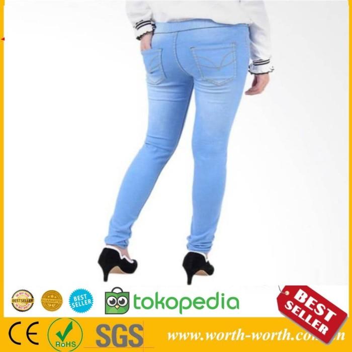 Jual Celana Legging Wanita Jeans Pinggang Karet Black 33 Jakarta Selatan Kencana Herbal Store Tokopedia