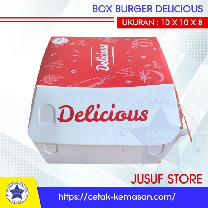 Jual Paper Box Kemasan Dus Kotak Burger Ayam Snack Kue ISI ...