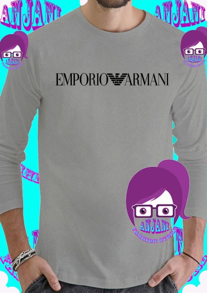 Jual Unik Tshirt Kaos lengan panjang Emprio Armani Murah ... f7d6742574