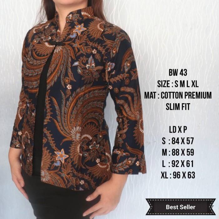 Jual Blouse Batik Wanita Modern Unik Baju Batik Bw15 Cokelat Tua S Jakarta Barat Lina Batik Distro Tokopedia
