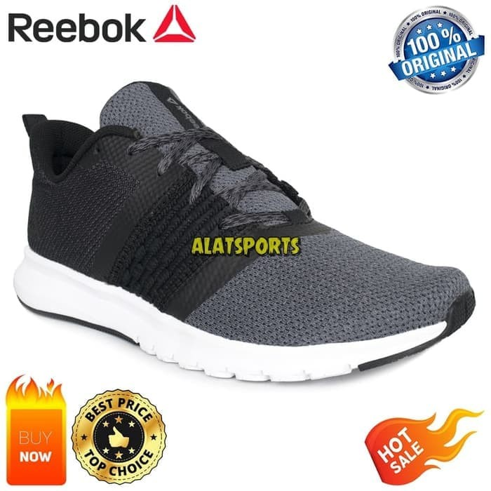 Jual Sepatu Running Pria Reebok Print Lite Rush CM8789 - Black ... e8856772d0