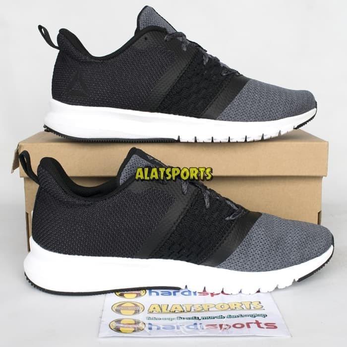 Sepatu Running Pria Reebok Print Lite Rush CM8789 - Black ORIGINAL - Hitam 4c9cac2827
