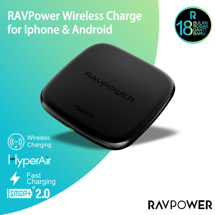 harga Ravpower wireless charge powerbank black [rp-pc066] Tokopedia.com