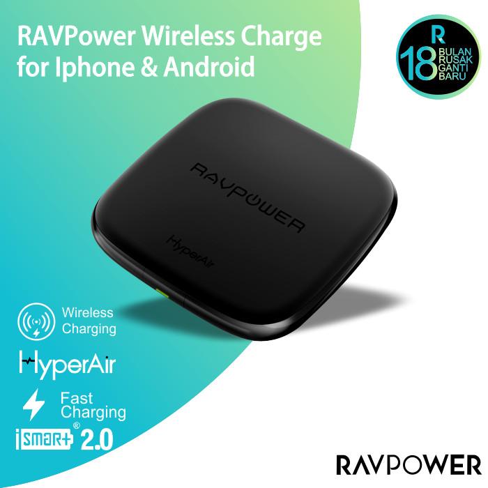 harga Ravpower wireless charge powerbank black [rp-pc066] Tokopedia.com