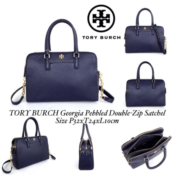 6a1c7d73ecf9 Jual TORY BURCH Georgia Pebbled Double-Zip Satchel - DKI Jakarta ...
