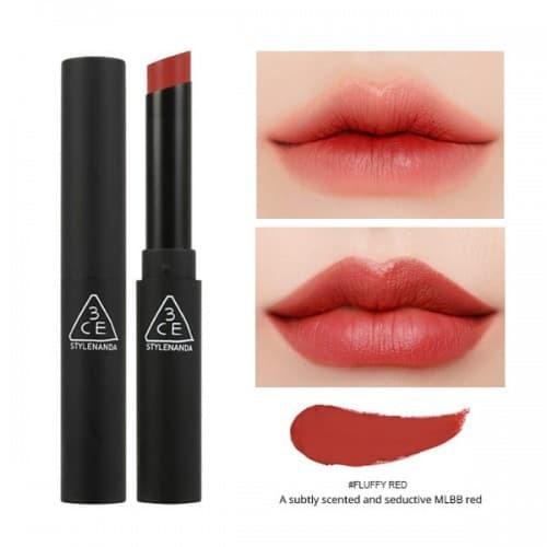 Kết quả hình ảnh cho son 3ce slim velvet lip color fluffy red