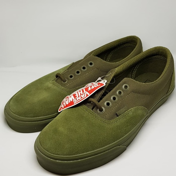 4351805b43 Jual Vans Shoes Olive Green - Vans Military Mono Era Mens Low Top ...