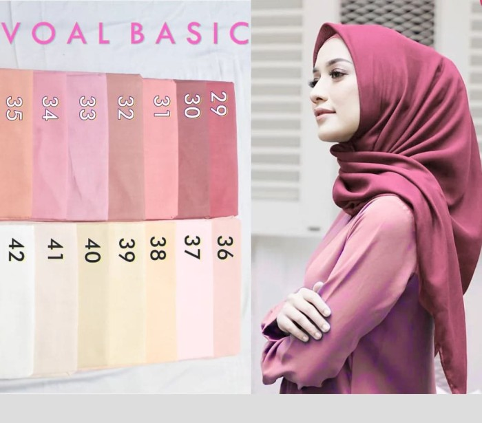 Hijab Kerudung Segi Empat Basic Voal Umama