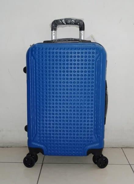 Jordan bag Tas Trolley Koper Fiber Hardcase 20 inchi Roda 4 Warna Biru
